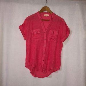 Women pink bottom down blouse
